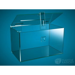 Plastová kasička 300 x 200 x 200 mm