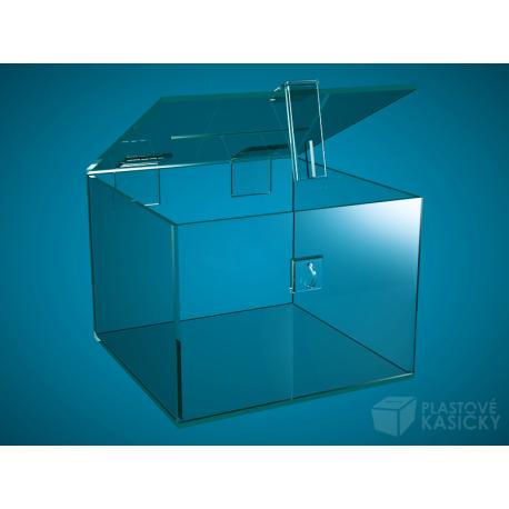 Plastová kasička 200 x 200 x 150 mm