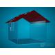 domečková červená střecha, 250 x 200 x 200 mm, s přesahem